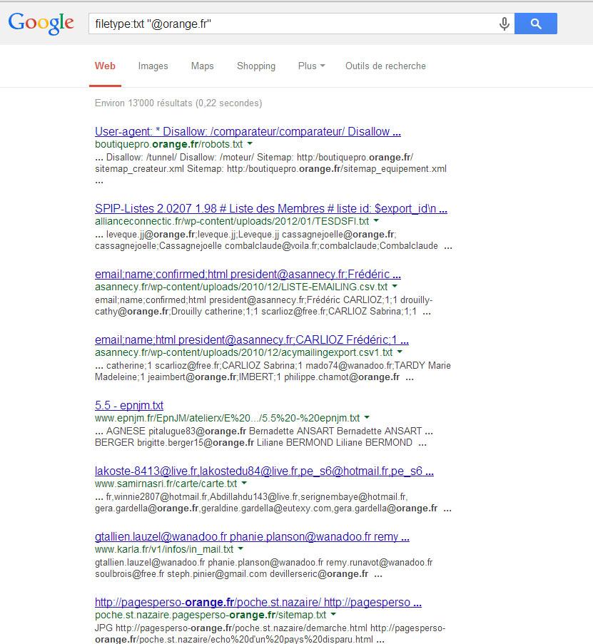 Google Trick - Filetype