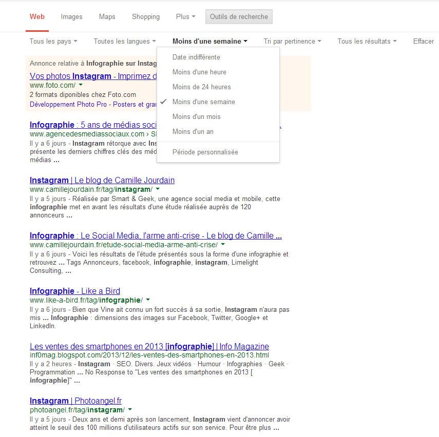 Google Trick - Outils de recherche