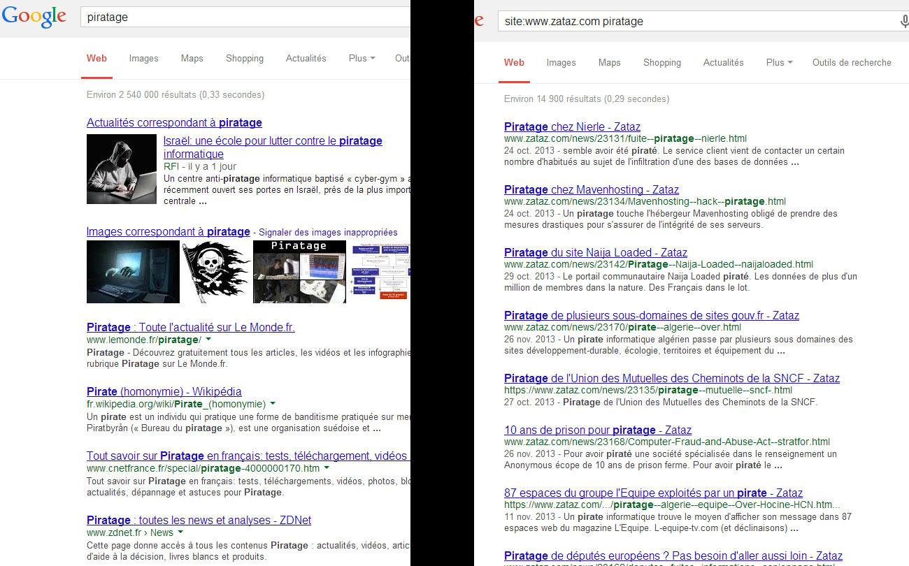 Google Trick - site