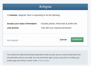 Instagram - API Authorization